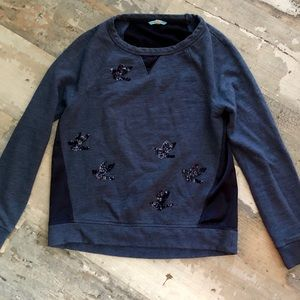 Leifnotes sequined birds sweatshirt